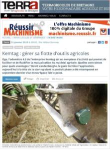 Mutualiser le matériel agricole avec Kemtag par Terra
